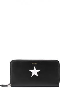 Кожаное портмоне на молнии с отделением для кредитных карт Givenchy
