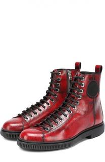 Высокие кожаные ботинки Kurt Jimmy Choo