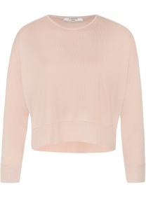 Укороченный пуловер прямого кроя с круглым вырезом Lanvin