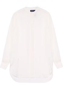 Шелковая полупрозрачная блуза прямого кроя Polo Ralph Lauren