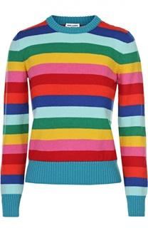 Пуловер в контрастную полоску с круглым вырезом Saint Laurent
