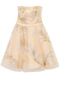 Приталенное платье-бюстье с декоративной отделкой Basix Black Label