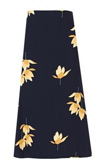 Юбка-миди с цветочным принтом Marni