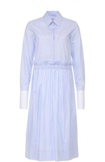 Хлопковое платье-рубашка в полоску Victoria by Victoria Beckham