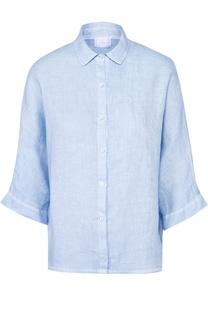 Укороченная льняная блуза свободного кроя 120% Lino