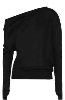 Кашемировый пуловер асимметричного кроя Tom Ford