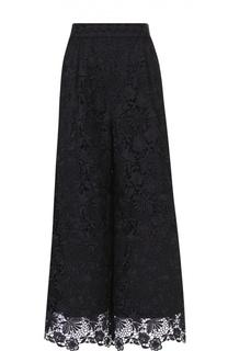 Кружевные укороченные брюки с широким поясом Diane Von Furstenberg