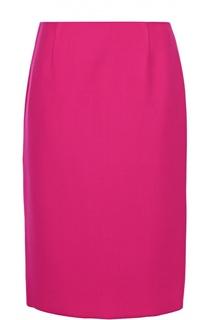 Шерстяная юбка прямого кроя с разрезом Marc Jacobs