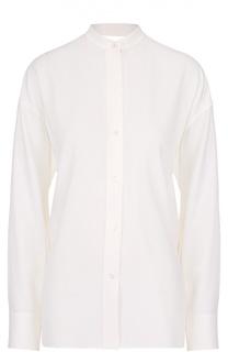 Блуза с запахом и разрезом на спинке Helmut Lang