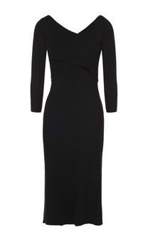 Платье-футляр с укороченным рукавом и V-образным вырезом Theory