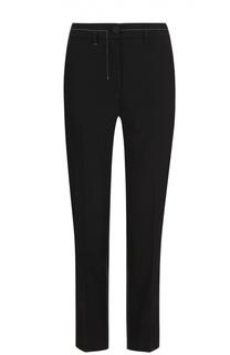 Укороченные брюки прямого кроя с контрастной прострочкой Helmut Lang