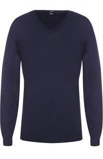 Шерстяной пуловер тонкой вязки BOSS
