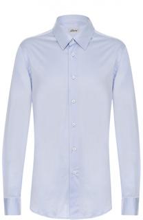 Хлопковая рубашка с воротником кент Brioni