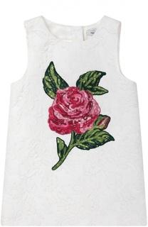 Платье без рукавов с аппликацией Dolce & Gabbana