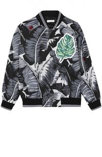 Куртка с принтом на молнии Dolce & Gabbana