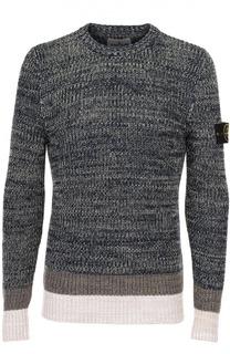 Хлопковый свитер с контрастной отделкой Stone Island
