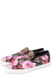 Текстильные слипоны с принтом Dolce & Gabbana