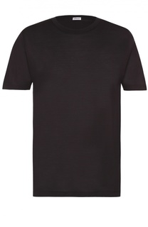 Шелковая футболка с круглым вырезом Brioni