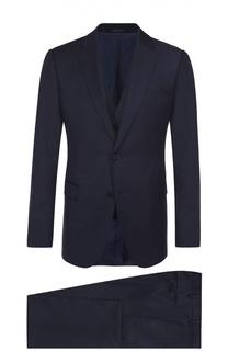 Шерстяной костюм-тройка Armani Collezioni