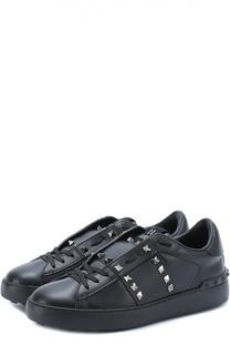 Кожаные кроссовки Rockstud Untitled Valentino
