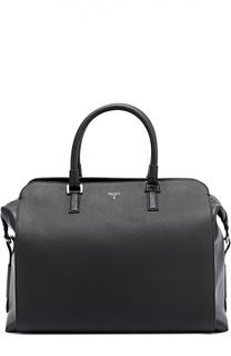 Кожаная дорожная сумка с внешними карманами на молнии Serapian