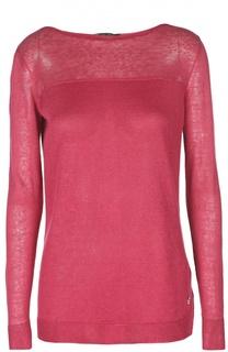 Льняной пуловер с вырезом-лодочка Loro Piana