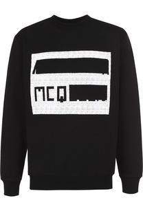 Хлопковый свитшот с принтом MCQ