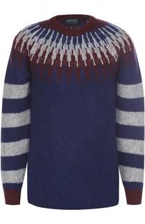 Шерстяной свитер с контрастным узором Daniele Fiesoli