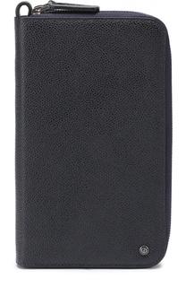 Кожаная борсетка с отделением для кредитных карт Giorgio Armani