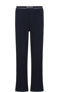 Хлопковые домашние брюки свободного кроя BOSS