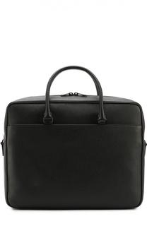 Кожаный портфель с плечевым ремнем Saint Laurent