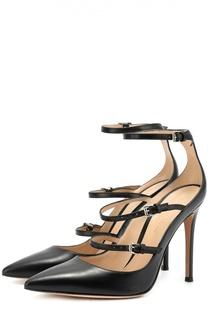 Кожаные туфли с ремешками на шпильке Gianvito Rossi