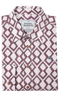 Хлопковая сорочка с воротником кент Vivienne Westwood