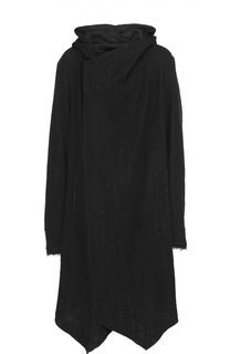 Пальто ассиметричного кроя из смеси шерсти и хлопка Lost&Found Lost&Found