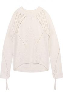 Пуловер с круглым вырезом и перфорацией 3.1 Phillip Lim