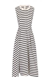 Приталенное платье без рукавов с защипами T by Alexander Wang