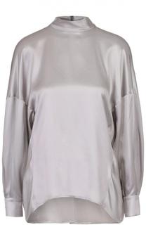 Шелковая блуза свободного кроя со спущенным рукавом Escada