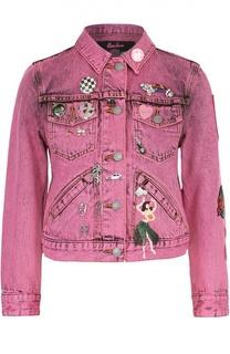 Укороченная джинсовая куртка с декоративной отделкой Marc Jacobs
