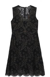 Кружевное мини-платье без рукавов Elie Tahari