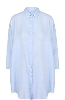 Льняная удлиненная блуза свободного кроя 120% Lino