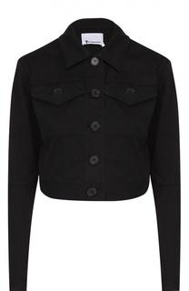 Укороченная джинсовая куртка с накладными карманами T by Alexander Wang