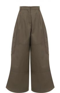 Укороченные широкие брюки с накладными карманами Valentino