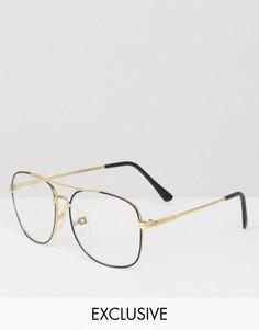Квадратные очки Reclaimed Vintage - Черный