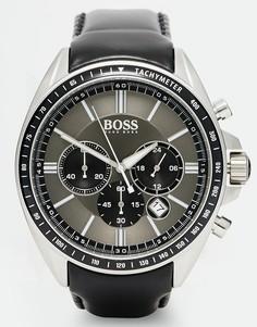 Часы с хронографом и кожаным ремешком BOSS By Hugo Boss 1513085 - Черный