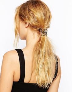 Резинка для волос с филигранной отделкой ASOS - Черный