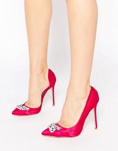 Туфли-лодочки с отделкой London Rebel - Красный