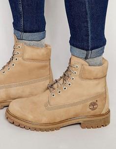 Кожаные ботинки премиум-класса Timberland Icon 6 - Бежевый