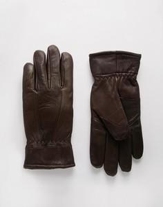 Кожаные перчатки Peter Werth - Коричневый
