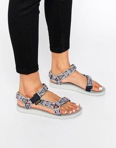 Розовые сандалии с мозаичным принтом Teva Original Universal - Розовый
