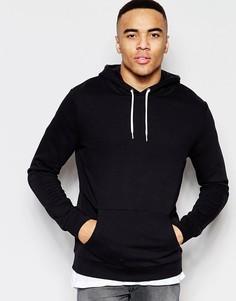 Черный свитшот с капюшоном New Look - Черный